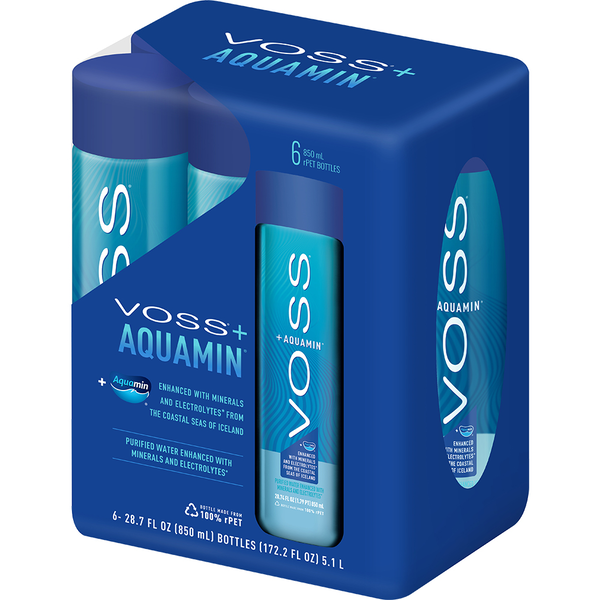 Try VOSS+ Aquamin for optimal hydration, or look and feel your best with NEW VOSS+ Collagen and VOSS+ Vitamin D. Now available in convenient take-home 6-Packs. Offer valid for any VOSS+ or VOSS multi-pack.