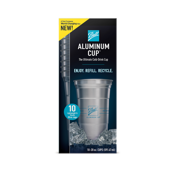 The new infinitely recyclable Ball Aluminum Cup™ gives you a better way to experience cold drinks. With a lightweight, sturdy construction that feels exceptionally cool to the touch, it's great for gettogethers as well as everyday use.