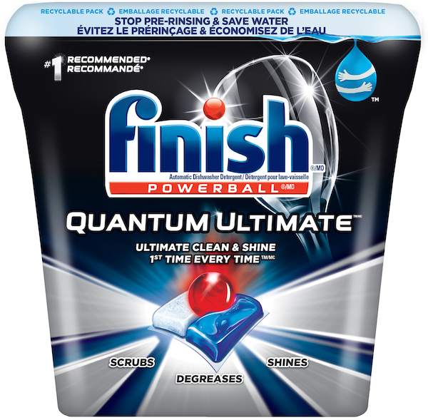 #SkipTheRinse and save up to 75L per load with Finish® Quantum UltimateMC. One tab is all you need for an ultimate clean and shine.