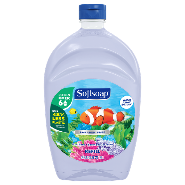 Convenient Refill Size. Refills over 6, 221 mL Pumps. Uses 48% plastic per mL vs. 221 mL pumps. Retains Skin's Natural Moisture.