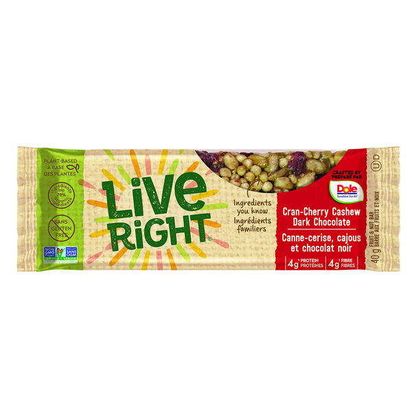 We are snackers. We live out loud. Live Right keeps us going. Plant-based, 70% organic, non-GMO. Real food. Tasty snacks, made right in Canada. Snack right. Live Right. Find us in the organic section!