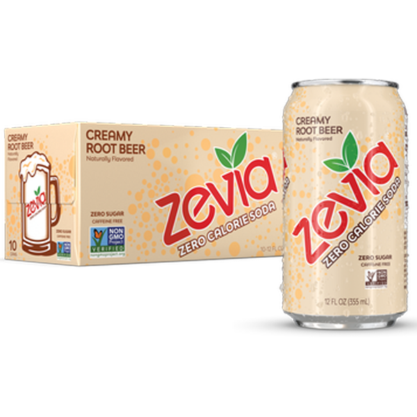 Sweetened with plant-derived stevia leaf extract, Zevia isthe naturally sweetened pop you and your family will crave. Always zero zero sugar, zero calories, with no artificial sweeteners!