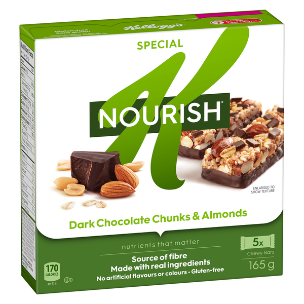 Snack Smart On The Go! Special K Nourish* bars are made with real ingredients like real cranberries, coconut and gluten-free oats.