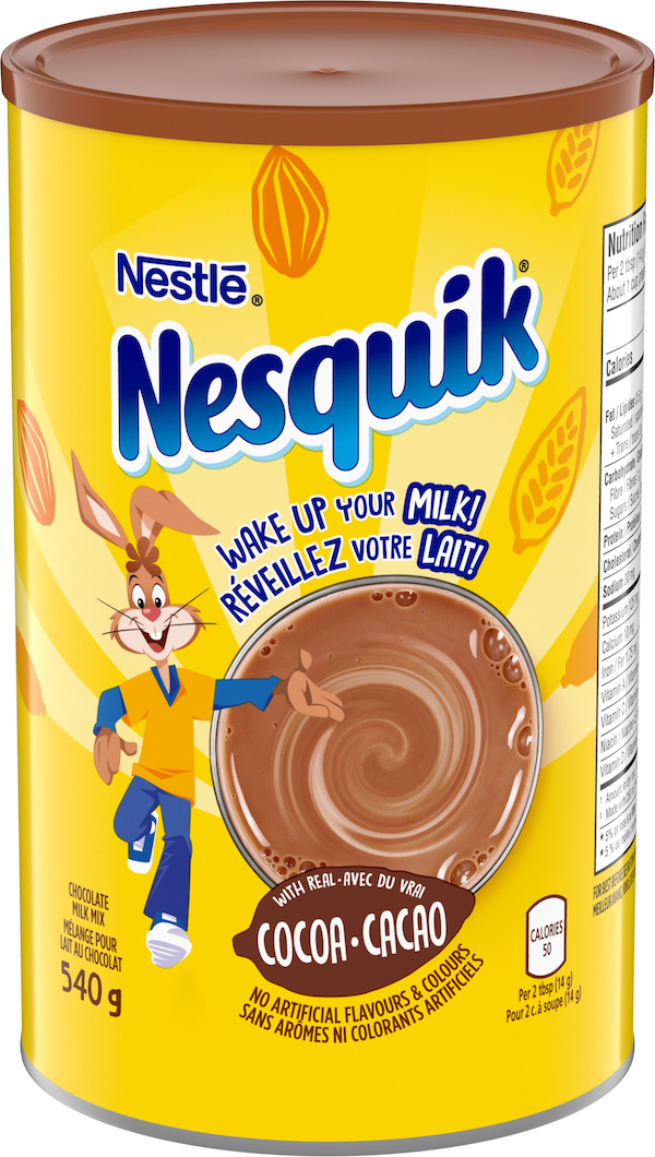 Wake up your Milk! NESQUIK® is a fun, easy and delicious way to enjoy all the nutritious benefits of milk. Simply squeeze it or scoop it and stir up a little fun!