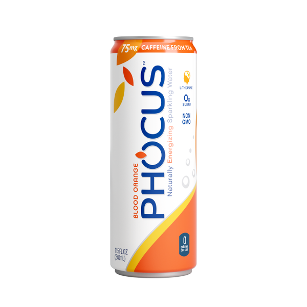 Sparkling water with a spark. Phocus is a delicious, health-conscious, thoughtfully caffeinated sparkling water. Infused with a boost of natural tea caffeine and the balance of L-theanine, you get the clean energy you want without the sugar, calories, or crash.