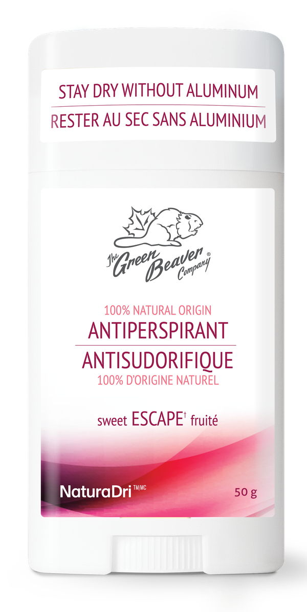 Green Beaver's natural aluminum-free antiperspirants offer you 24-hour clinically proven protection without any harmful ingredients.  Our unique NaturaDri technology uses natural plant extracts and flower waxes to keep you confident and dry. Available in a variety of 100% natural and fresh scents.