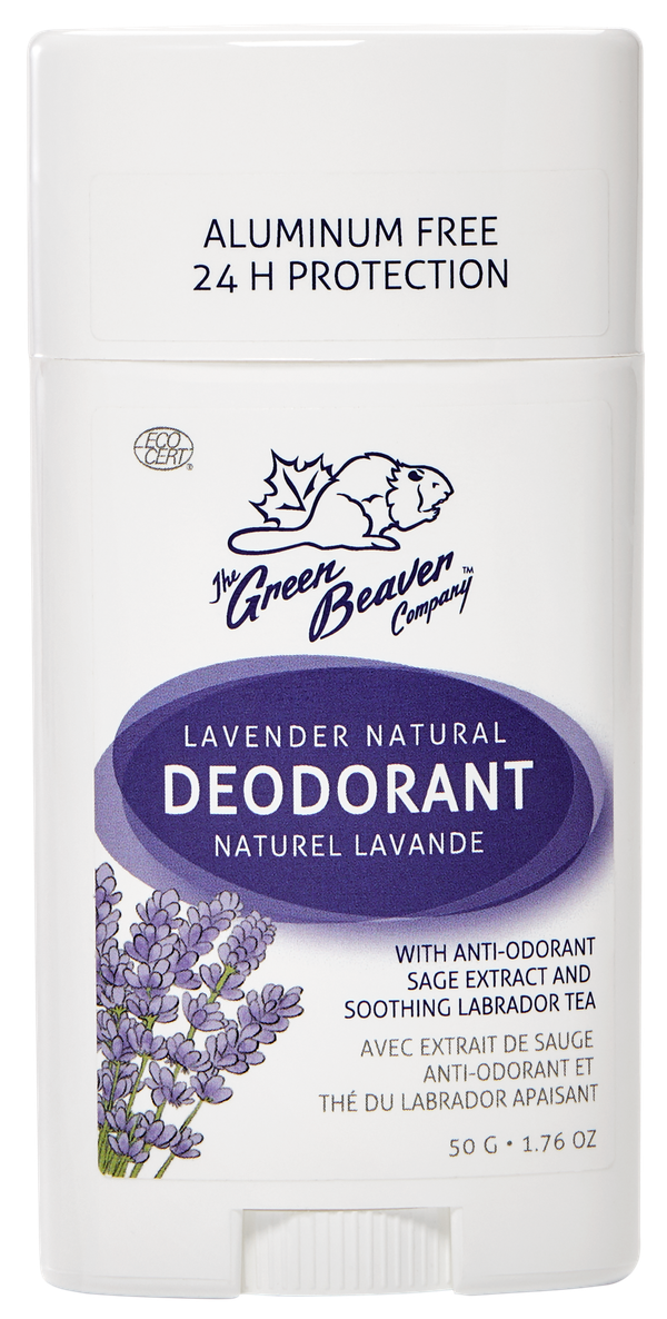 Green Beaver's 100% natural deodorants offer maximum protection without aluminum or any other harmful ingredients. Our natural deodorants, clinically proven to protect you against odors, are made with plant-based ingredients like sage and Labrador tea to protect you against odors for up to 24 hours. Available in a variety of 100% natural and fresh scents.