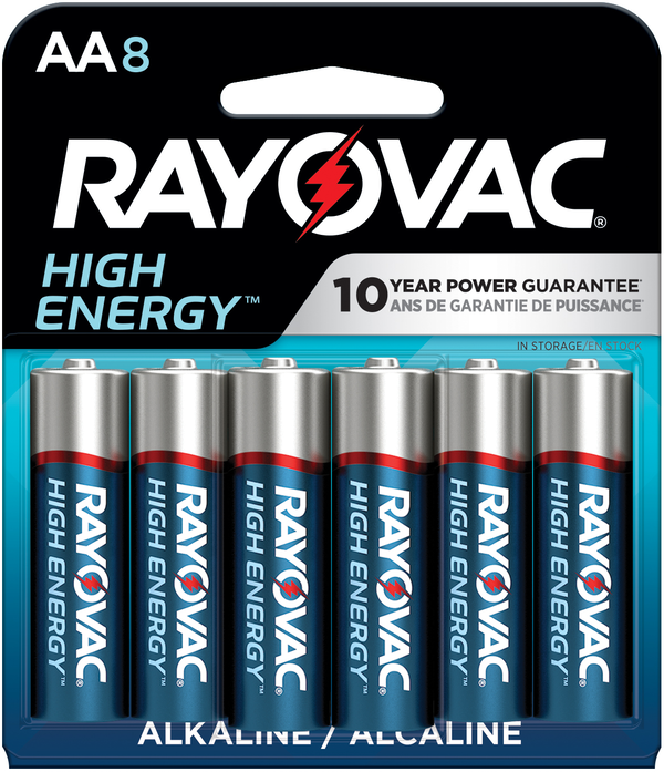 RAYOVAC® HIGH ENERGY™ batteries are powerful, reliable and long lasting all at an affordable price.
